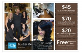 Postcard - Graphic Design - Salon Halo Featured