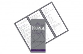 Trifold - Graphic Design - NuAge Med Spa Featured